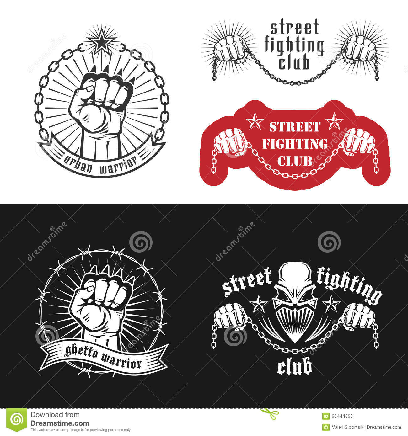 brass knuckles diagram vga to rca street fighting club emblems stock vector illustration of straight with skull stars and inscriptions urban warrior ghetto