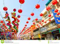 Street Lamp In Chinese New Year Celebration Editorial ...