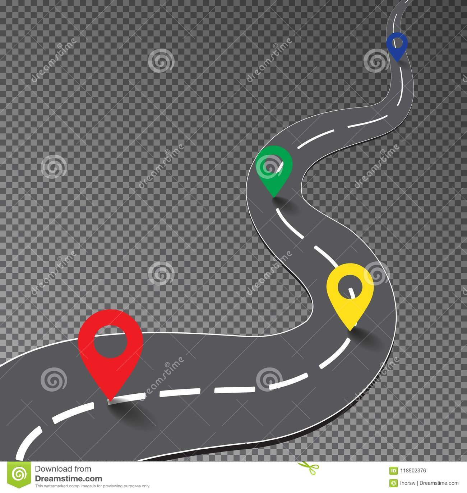 Road Map Goal Stock Illustrations 814 Road Map Goal