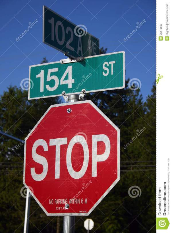 Street Stop Sign Royalty Free Stock