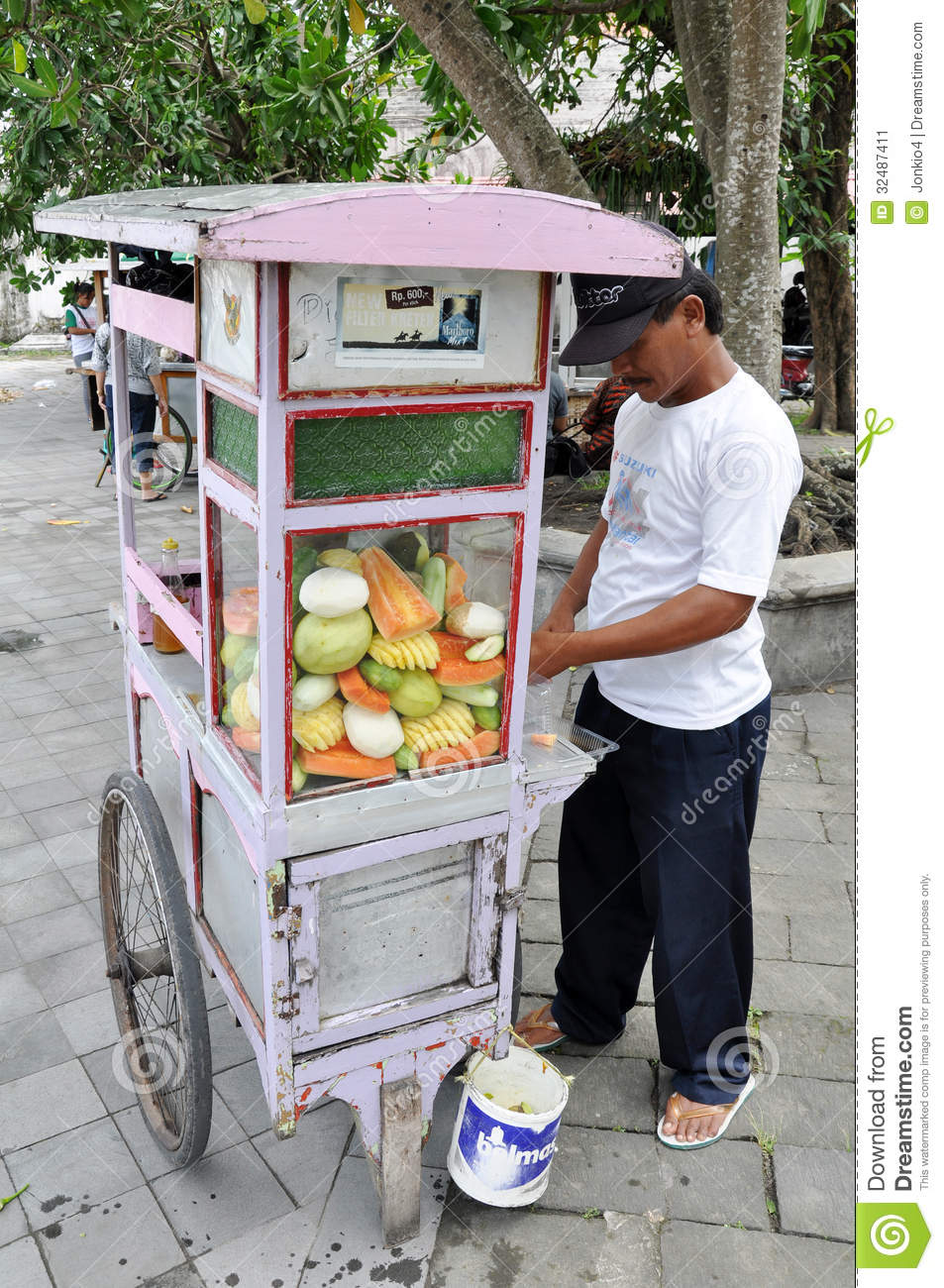 Street Vendor Of Indonesia Editorial Photo  Image 32487411