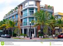 Street View South Beach Miami Stock