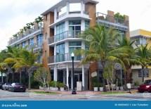 Street View South Beach Miami Stock