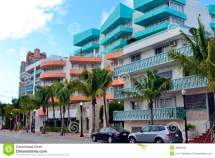 Street View South Beach Miami Stock - Of