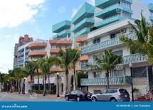Street View South Beach Miami Stock - Of