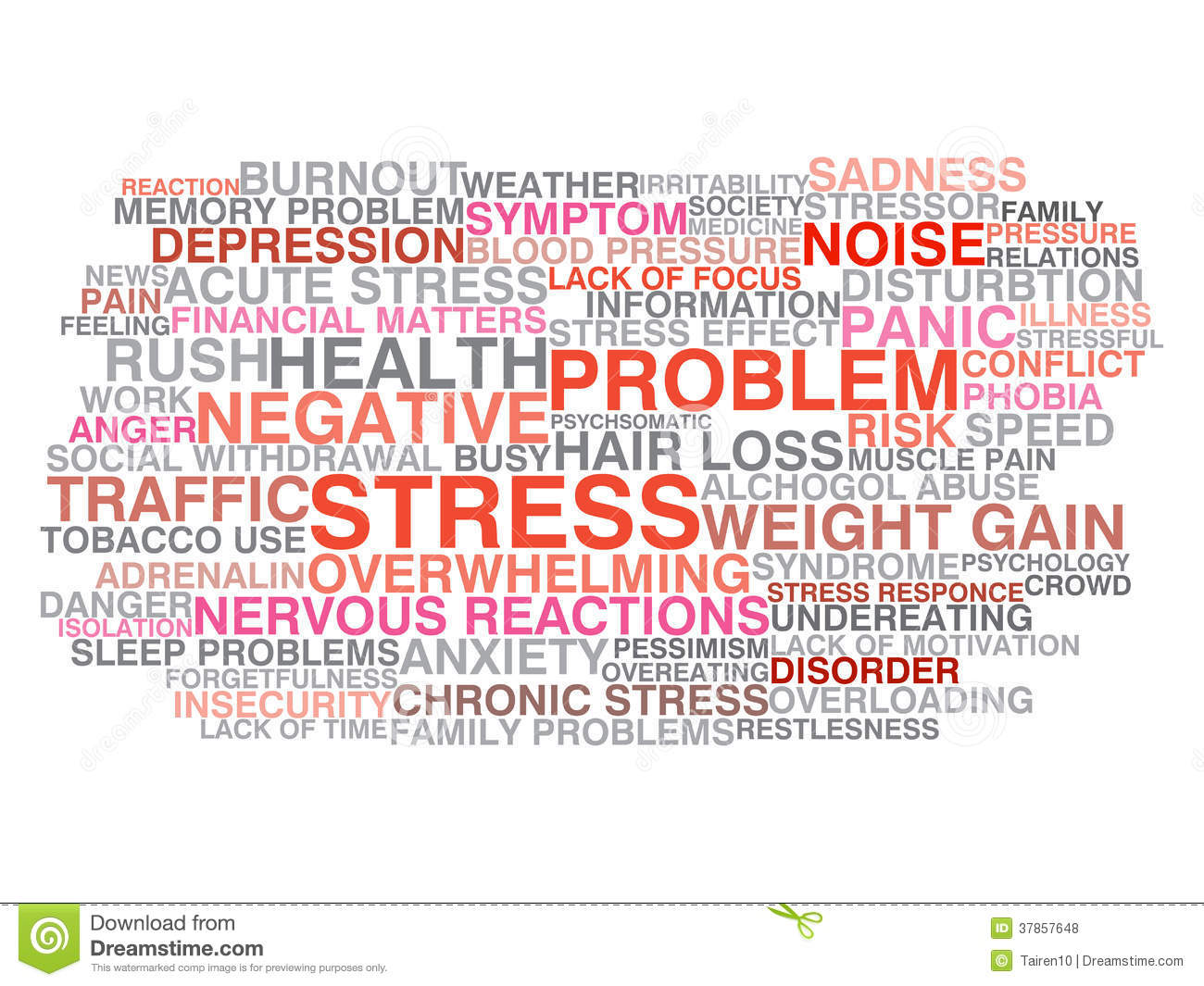 Stress Symptoms Stock Vector Illustration Of Conflict