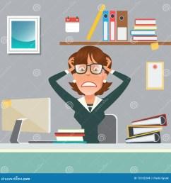 stressed businesswoman stock illustrations 678 stressed businesswoman stock illustrations vectors clipart dreamstime [ 1300 x 1390 Pixel ]