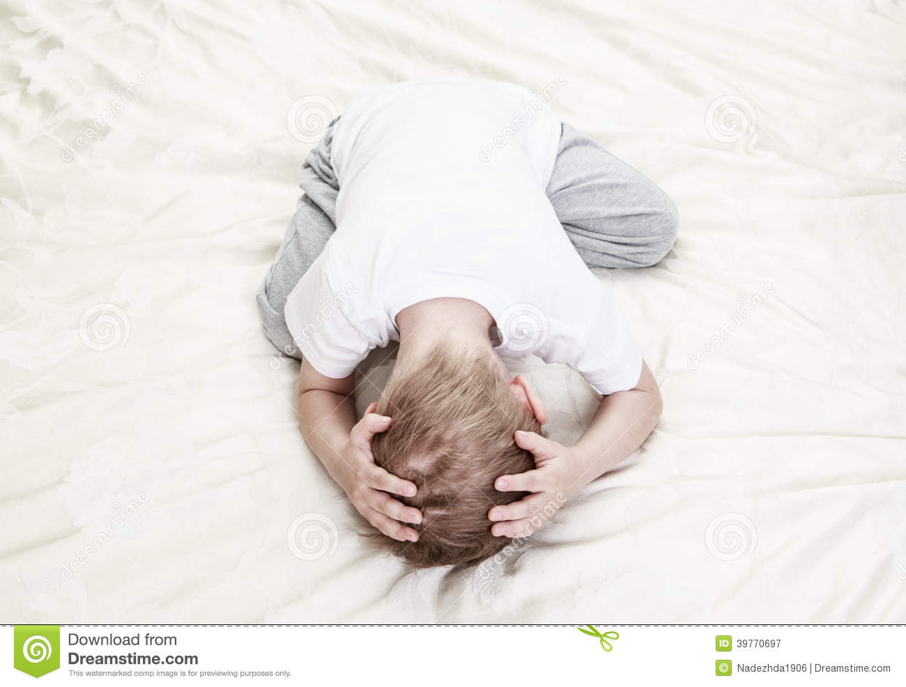 Stressed Child Stock Photo