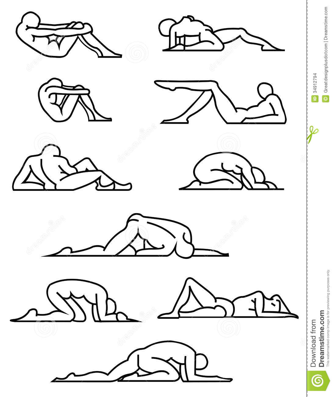 Stretching / Yoga Poses. Vector Eps8 / Clip Art Stock