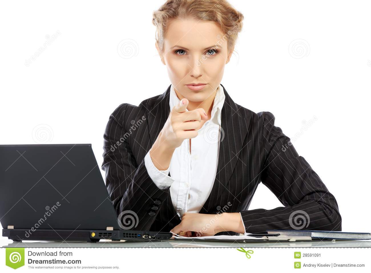 Strict manager stock image Image of businesspeople office  28591091
