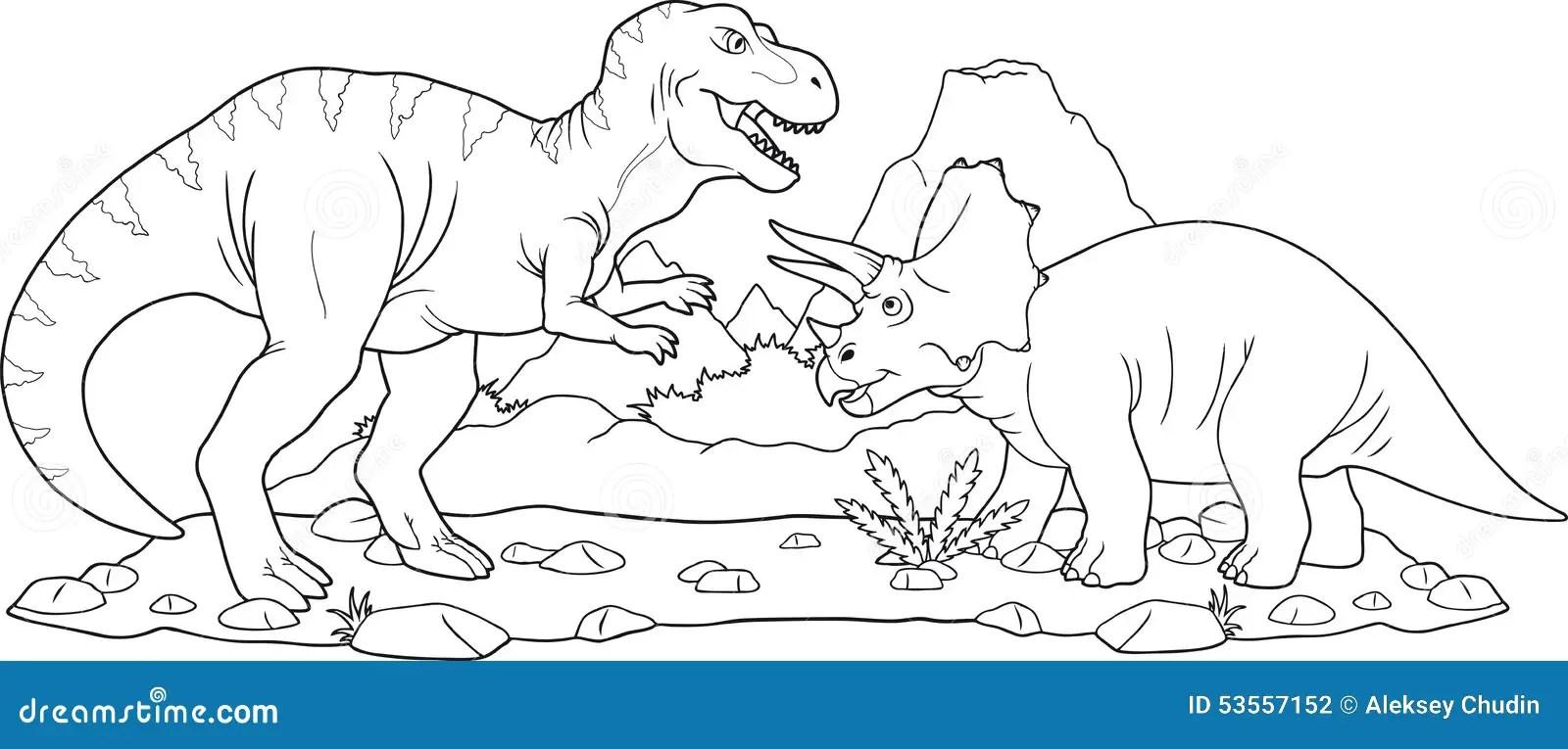 Striddinosaurier vektor illustrationer. Illustration av