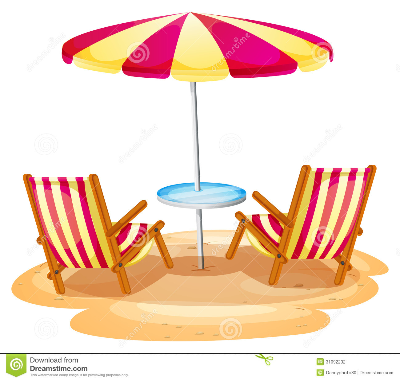 beach chair and umbrella clipart fishing kmart a stripe the two wooden chairs stock