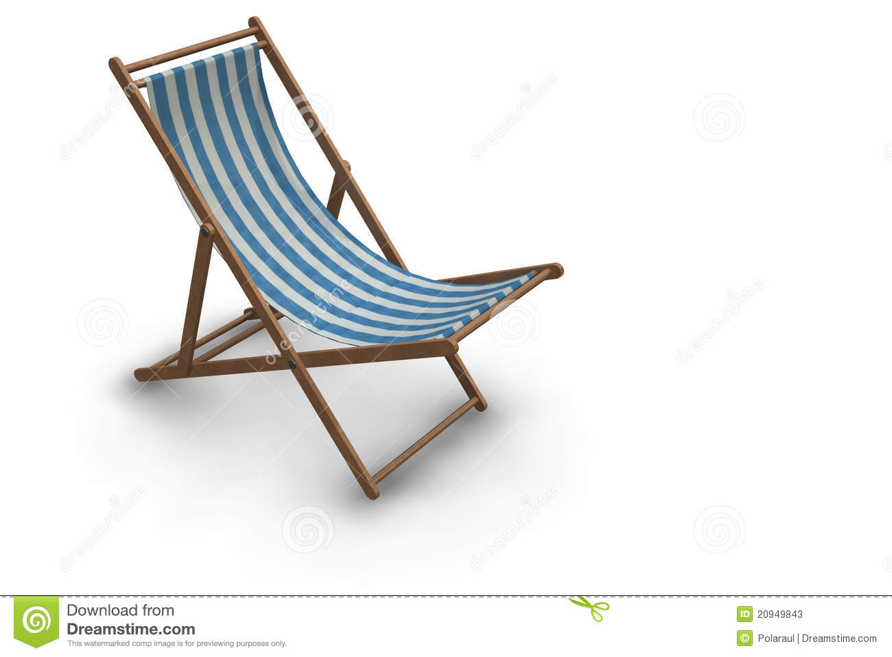 Blue And White Striped Chair Striped Beach Chair Stock Photos Image 20949843