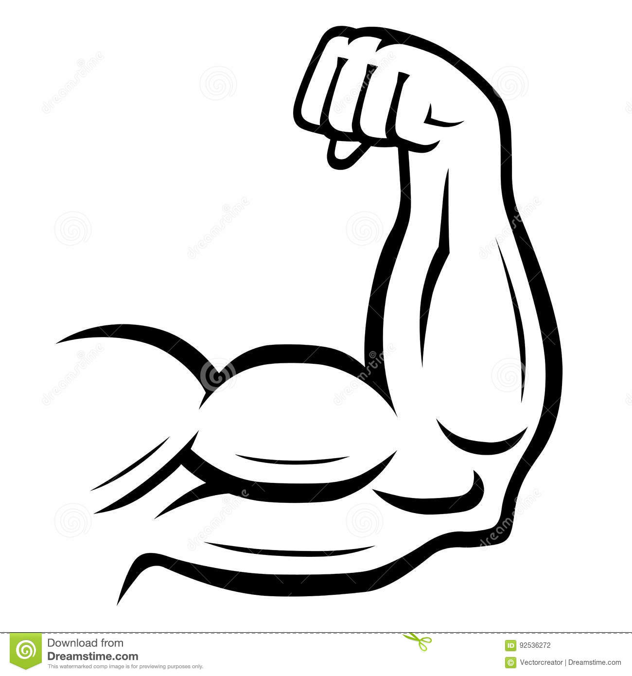 Strong Arm Vector Icon. Sport, Fitness, Bodybuilding