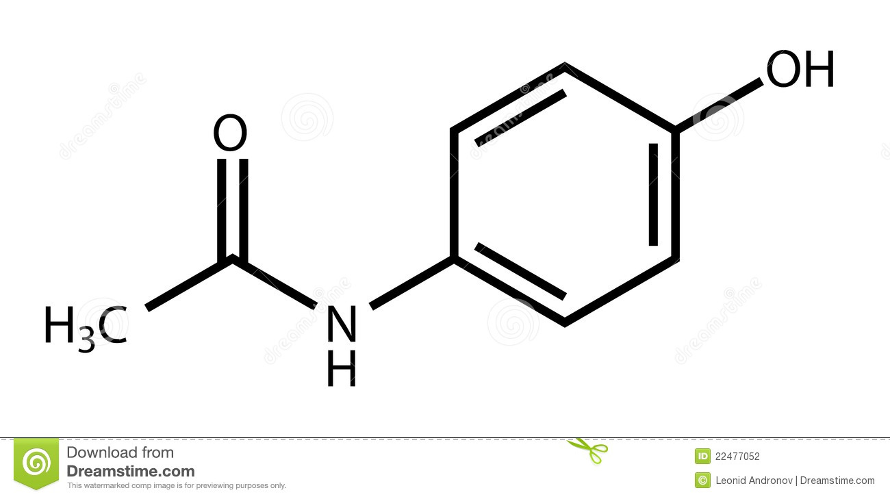 hight resolution of structural formula of paracetamol acetaminophen