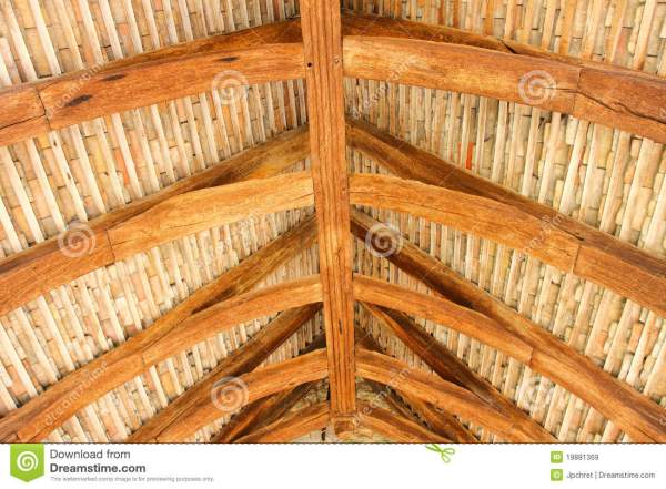 Structural Wood Roof Royalty Free Stock