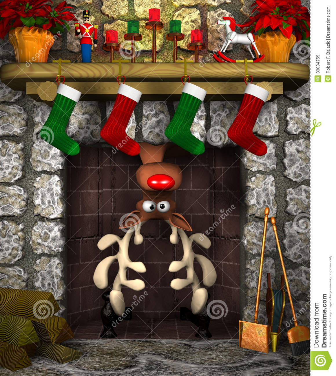 Stuck Reindeer Royalty Free Stock Images Image 33034759