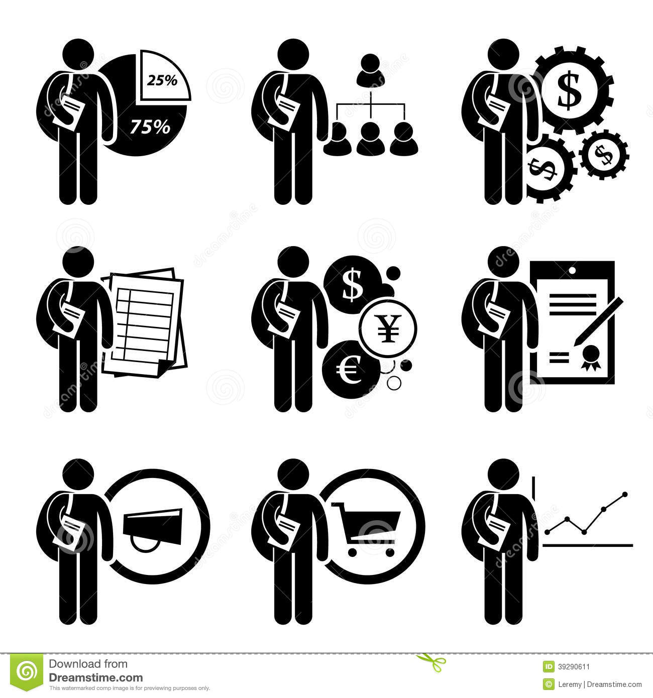 Student Degree In Business Management Stock Vector