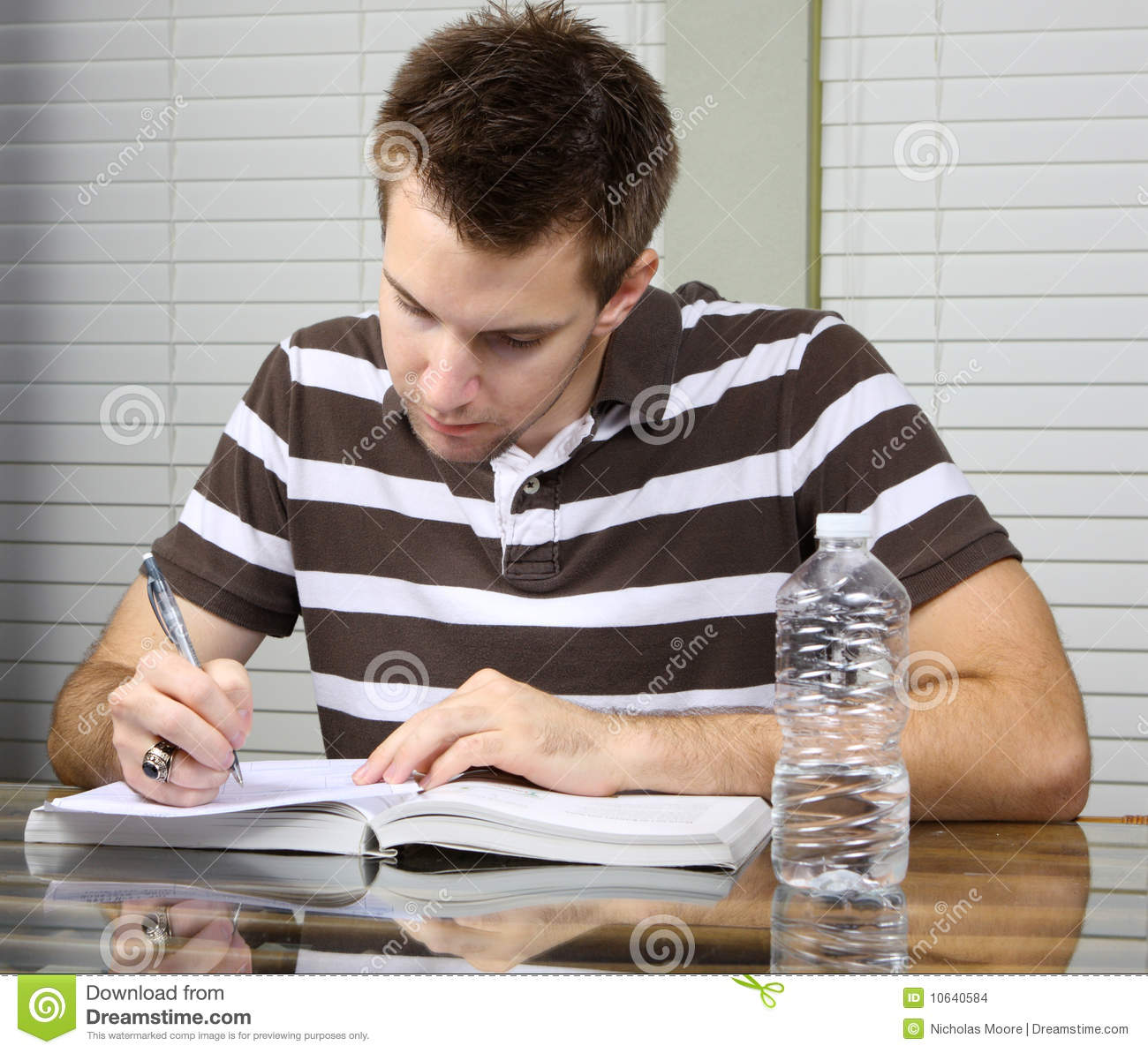 Student Doing Work Stock Photo Image Of Caucasian, Business  10640584