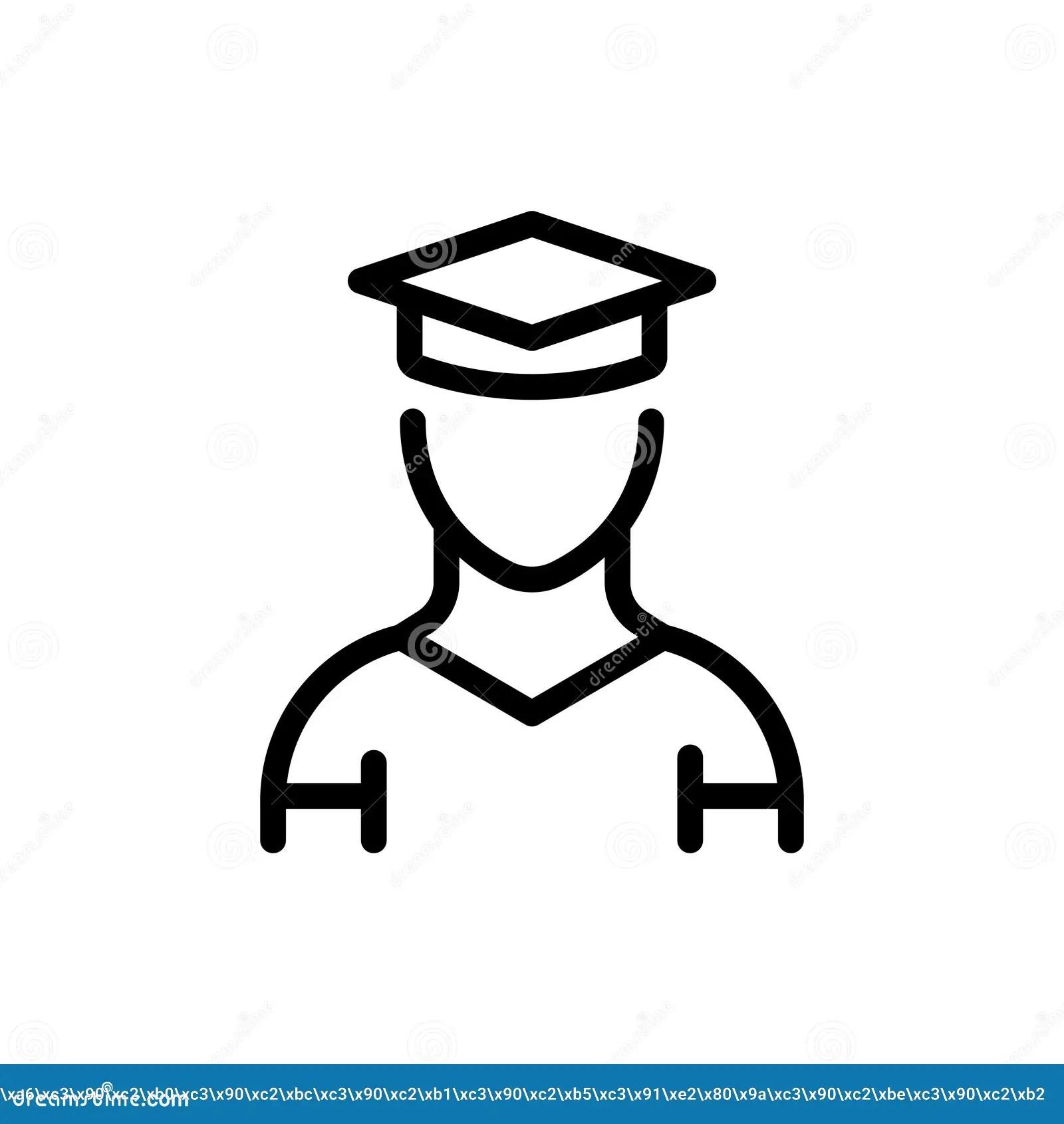 Student flat icon stock vector. Illustration of graduating