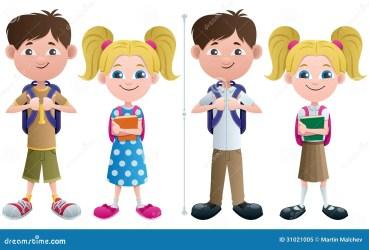 uniform clipart student students casual basic studenten vector schoolboy