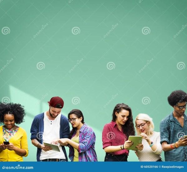 Students Learning Education Cheerful Social Media Stock