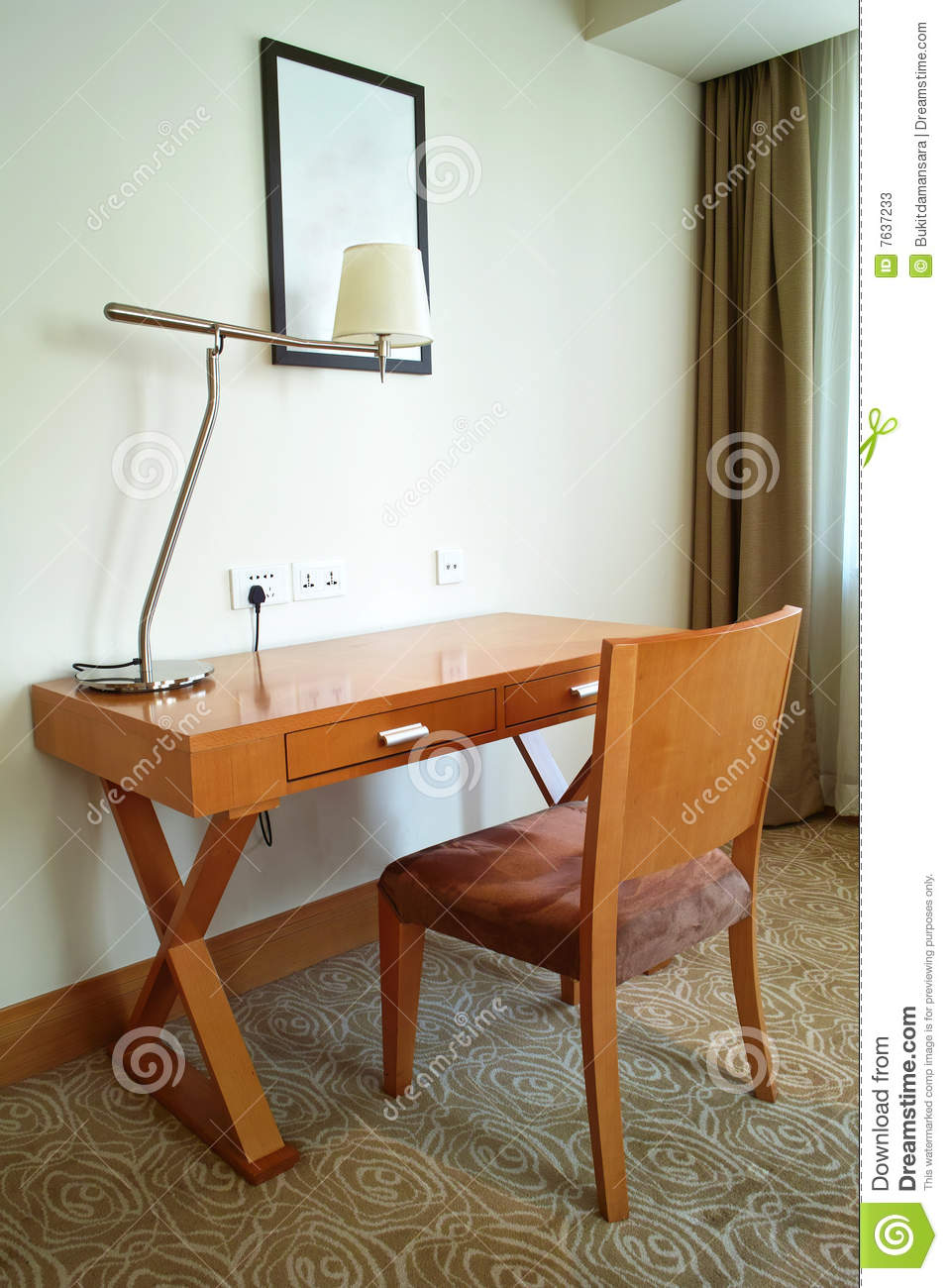 Study Table And Chair Study Desk Chair Stock Image Image Of Chair Student 7637233