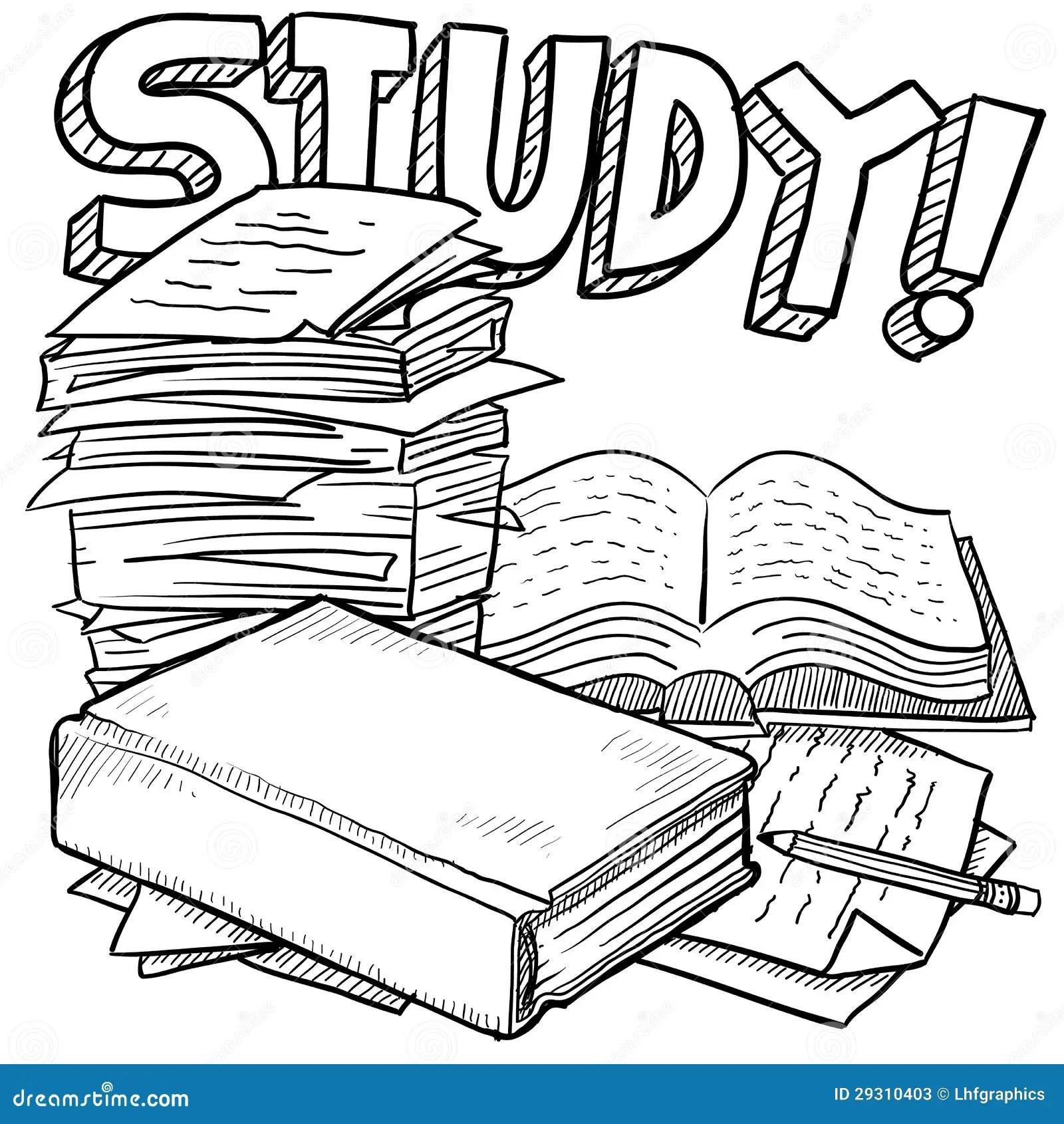 Study Education Sketch Stock Photos