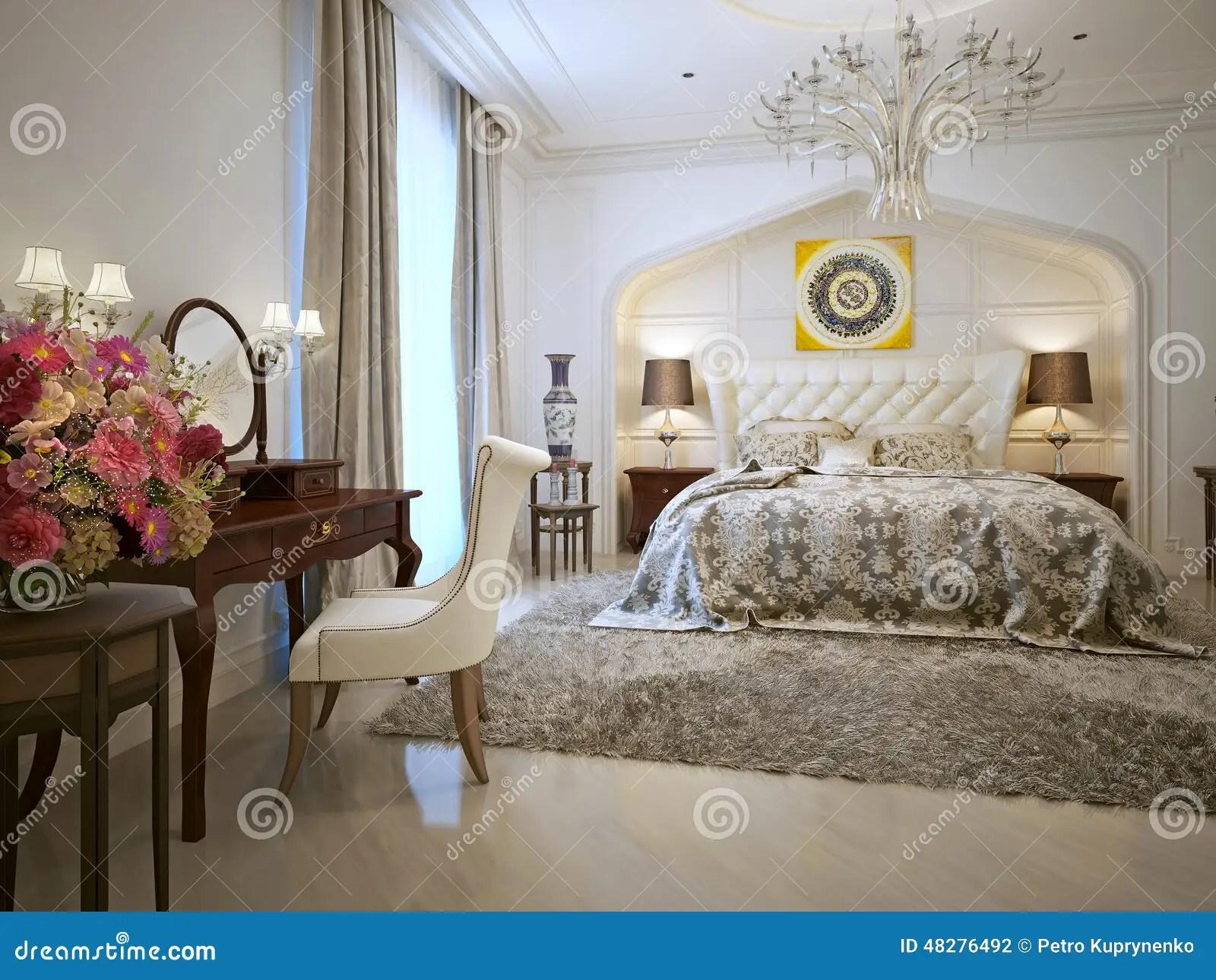 Style Doriental De Chambre  Coucher Illustration Stock  Illustration du beige corduroy 48276492