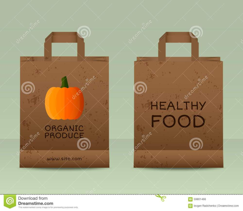 medium resolution of stylish farm fresh paper bags template mock up design with pumpkin vintage colors best for natural shop organic fairs eco markets and local companies