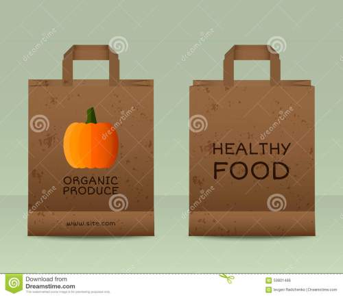 small resolution of stylish farm fresh paper bags template mock up design with pumpkin vintage colors best for natural shop organic fairs eco markets and local companies