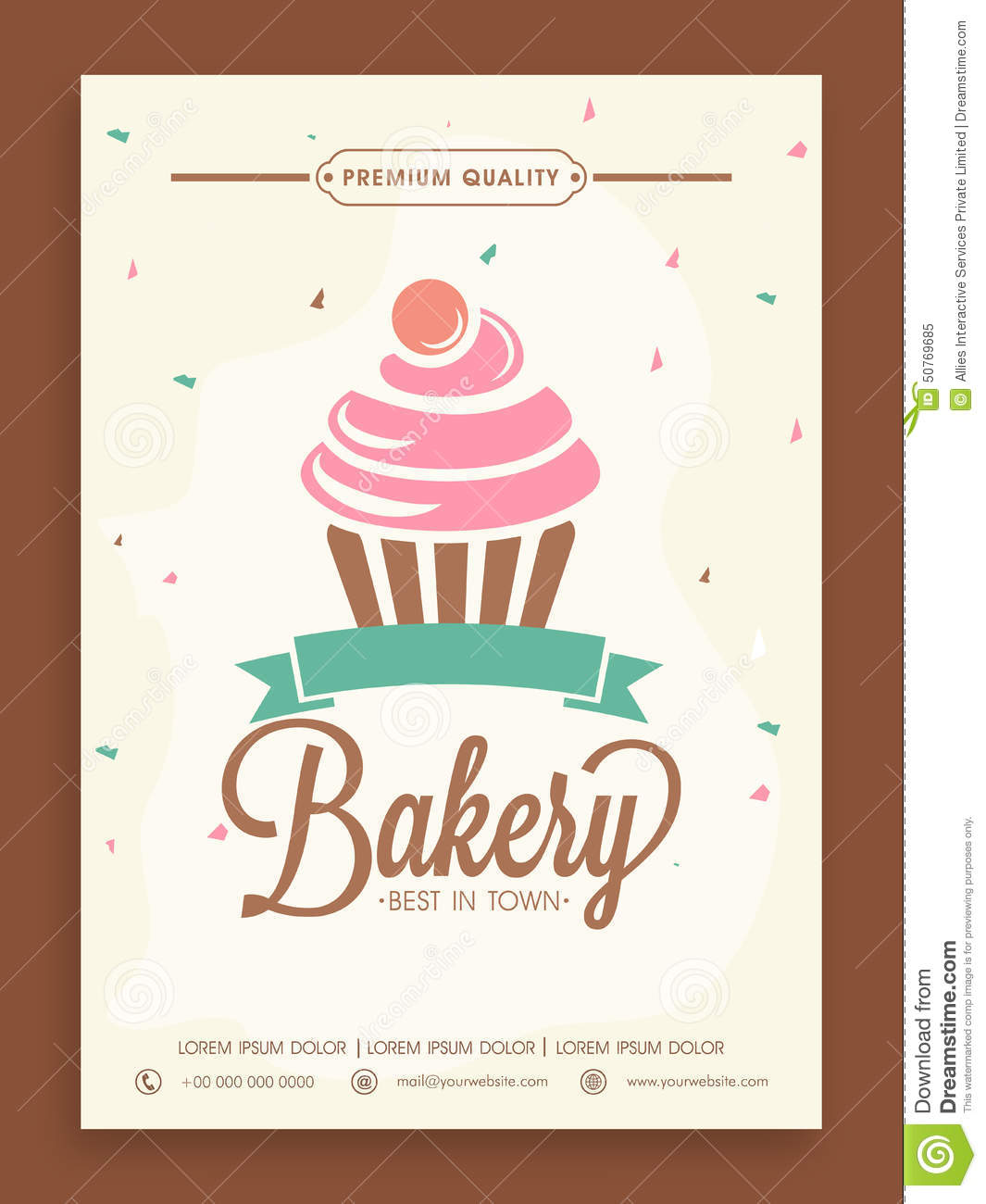 Stylish Flyer Or Menu Card For Bakery Shop Stock
