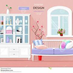 Create Your Own Living Room Set Modern Decorating Ideas For Apartments Stylish Graphic Interior With Pastel Colors Sofa Cupboard And Window Cute Vector Illustration
