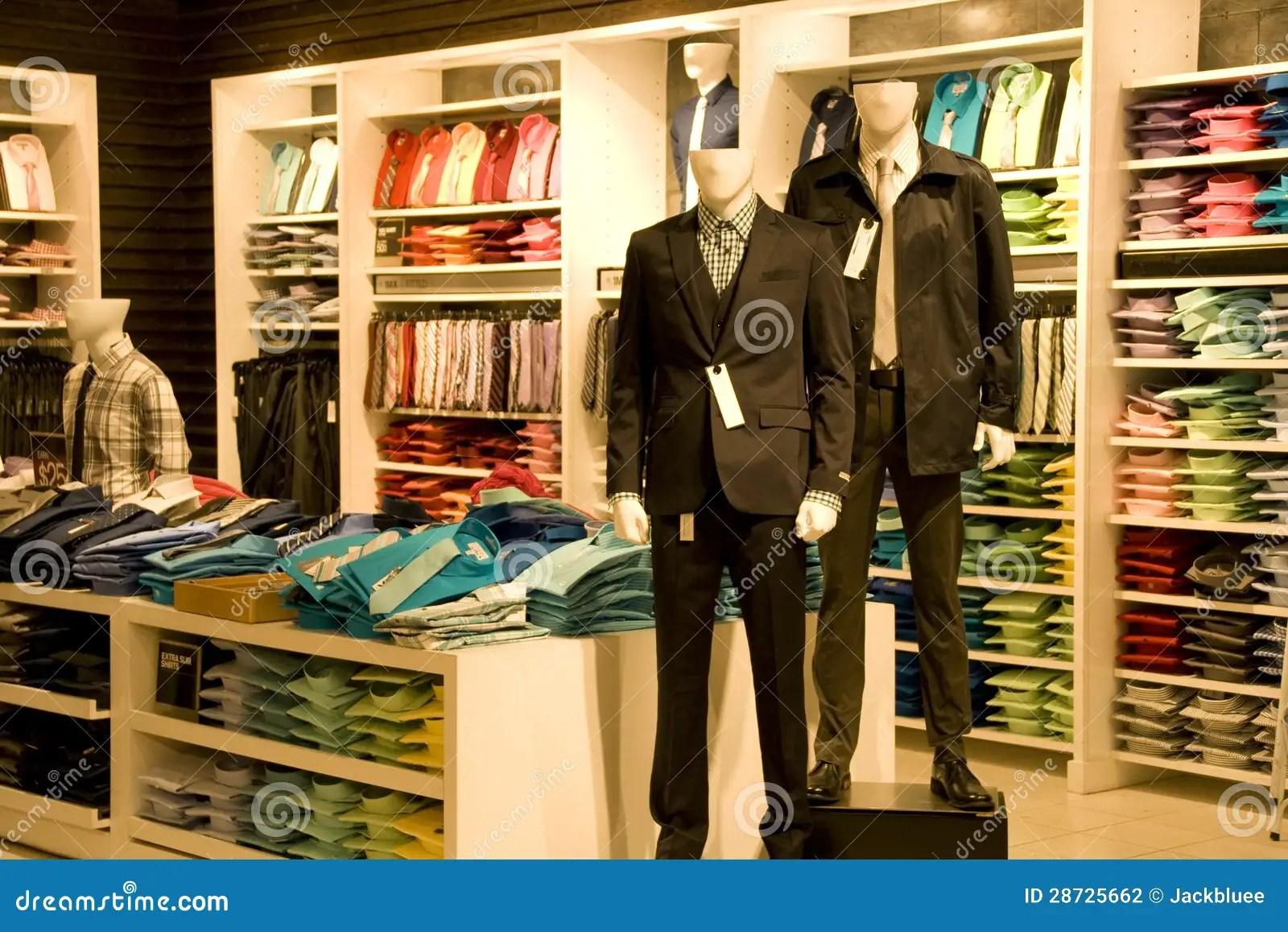 Stylish Man Clothing In Store Stock Photography  Image