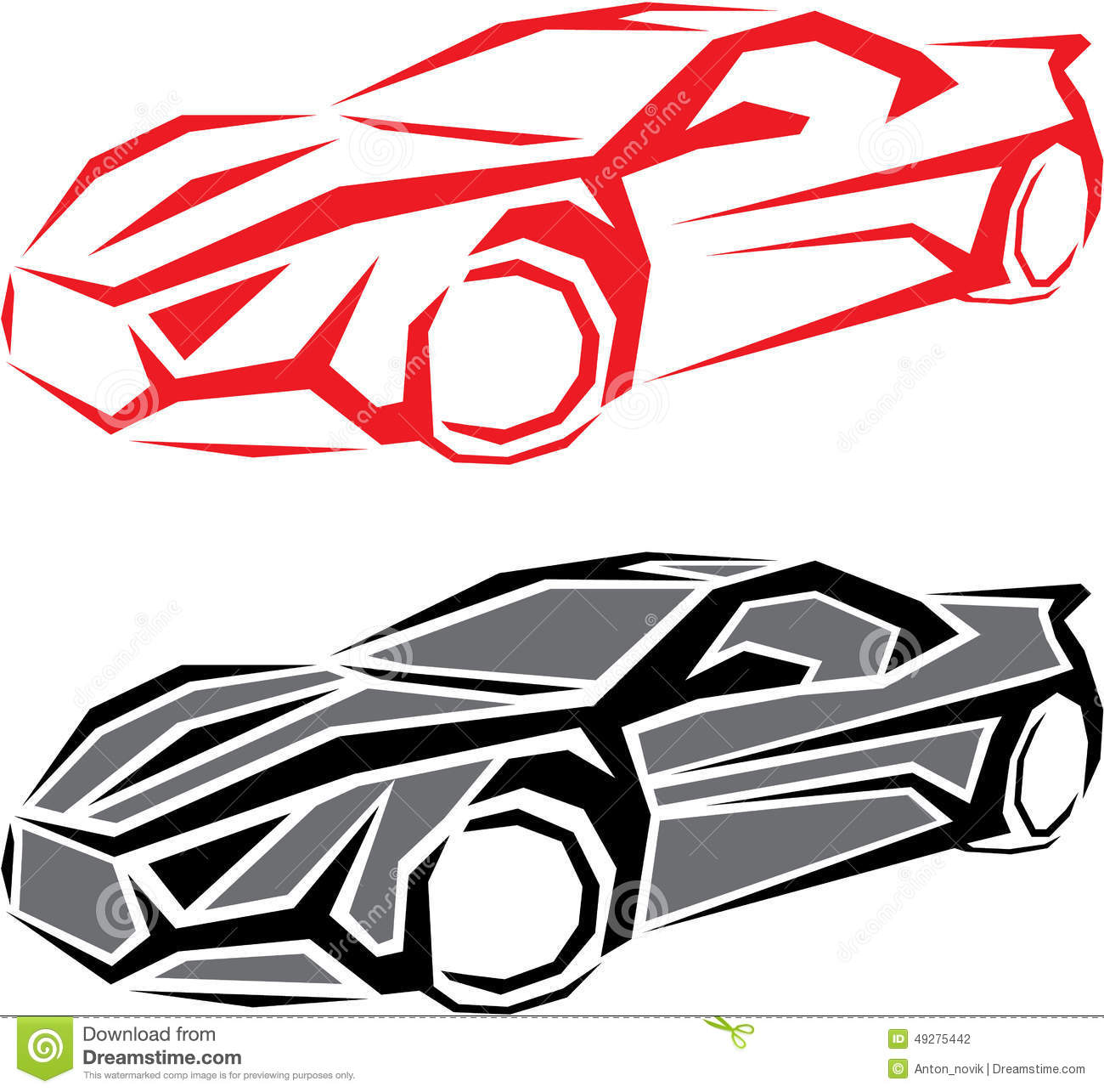 vehicle diagram clip art 2002 honda accord audio wiring stylized car stock vector image of outline power