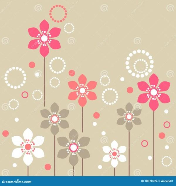 Stylized Flowers Stock Images Image 18070224