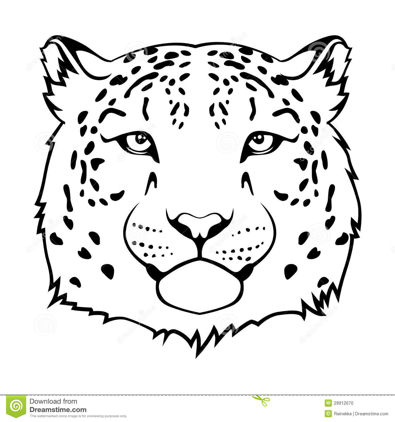 Jaguar Head Stock Vector Illustration Of Graphic Sign