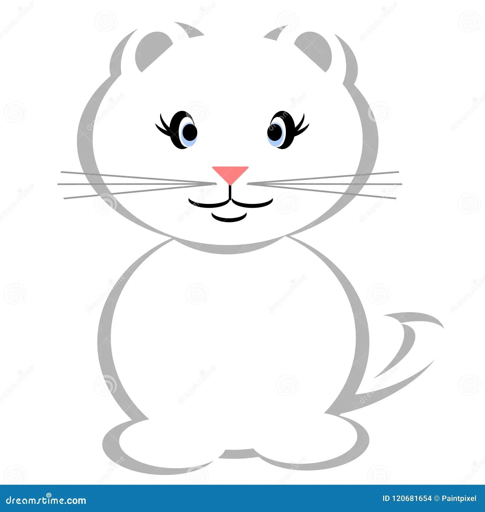 White Kitten Clipart Stock Illustrations 3 645 White