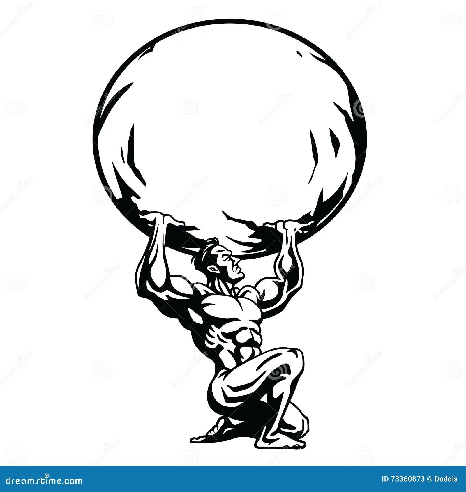 Stylizowany Rysunek Atlant Ilustracja Wektor Ilustracja