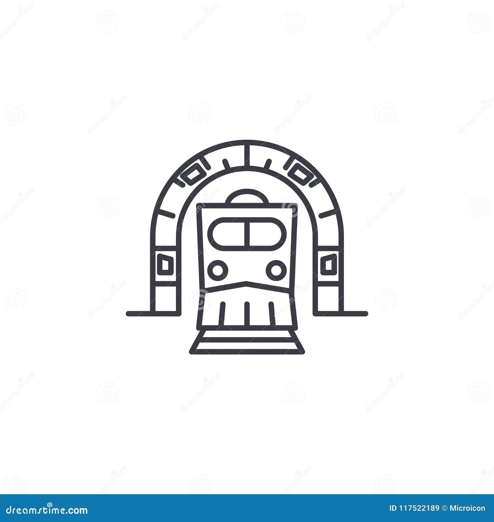 Building Of Underground Tunnels Cartoon Vector