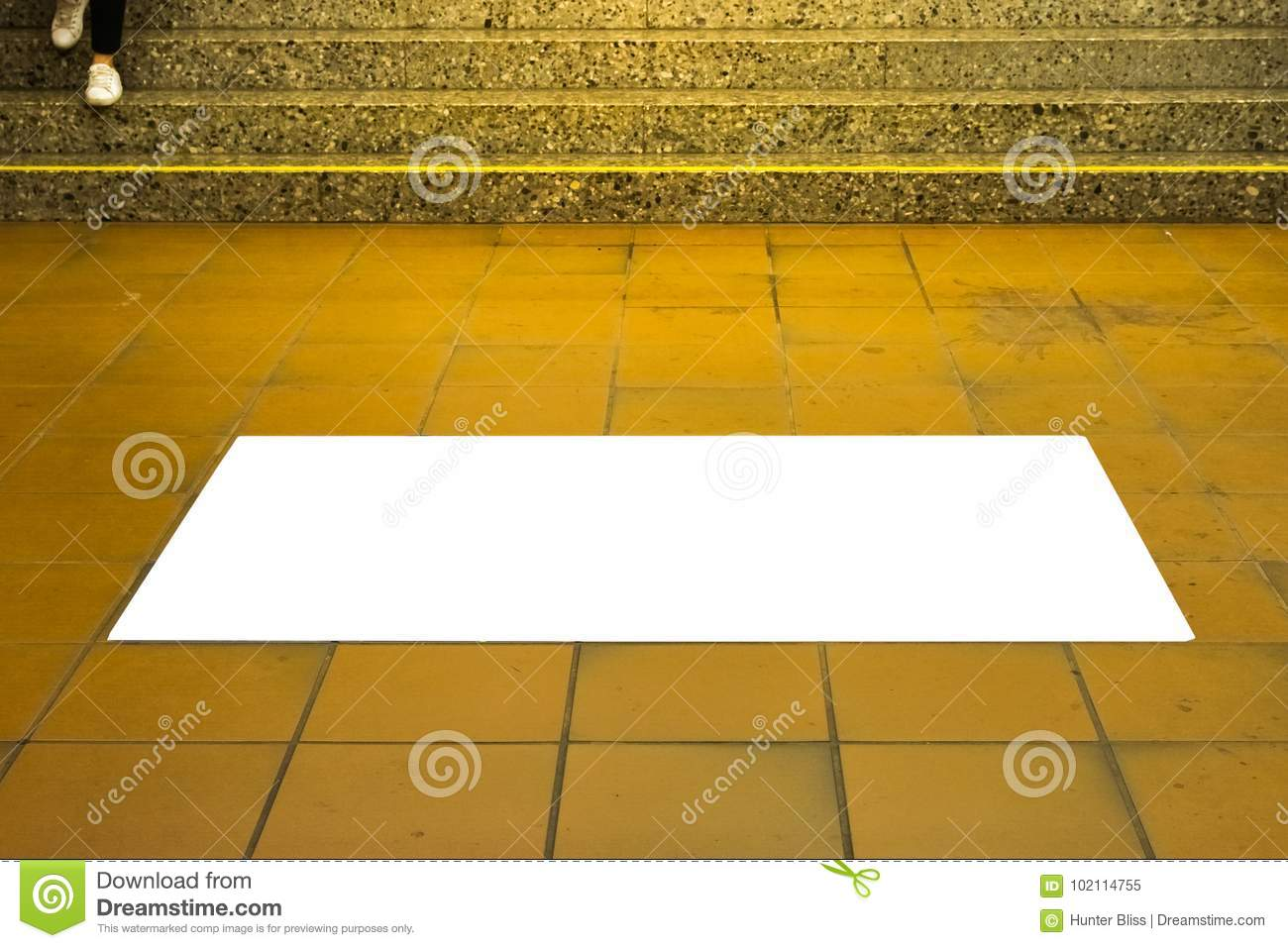 https www dreamstime com subway tile floor ad space white isolated mockup urban area advertisement poster subway tile floor ad space white isolated mockup image102114755