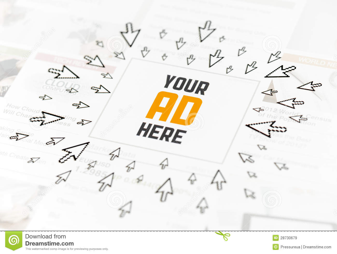 Success Web Advertisement Concept Royalty Free Stock