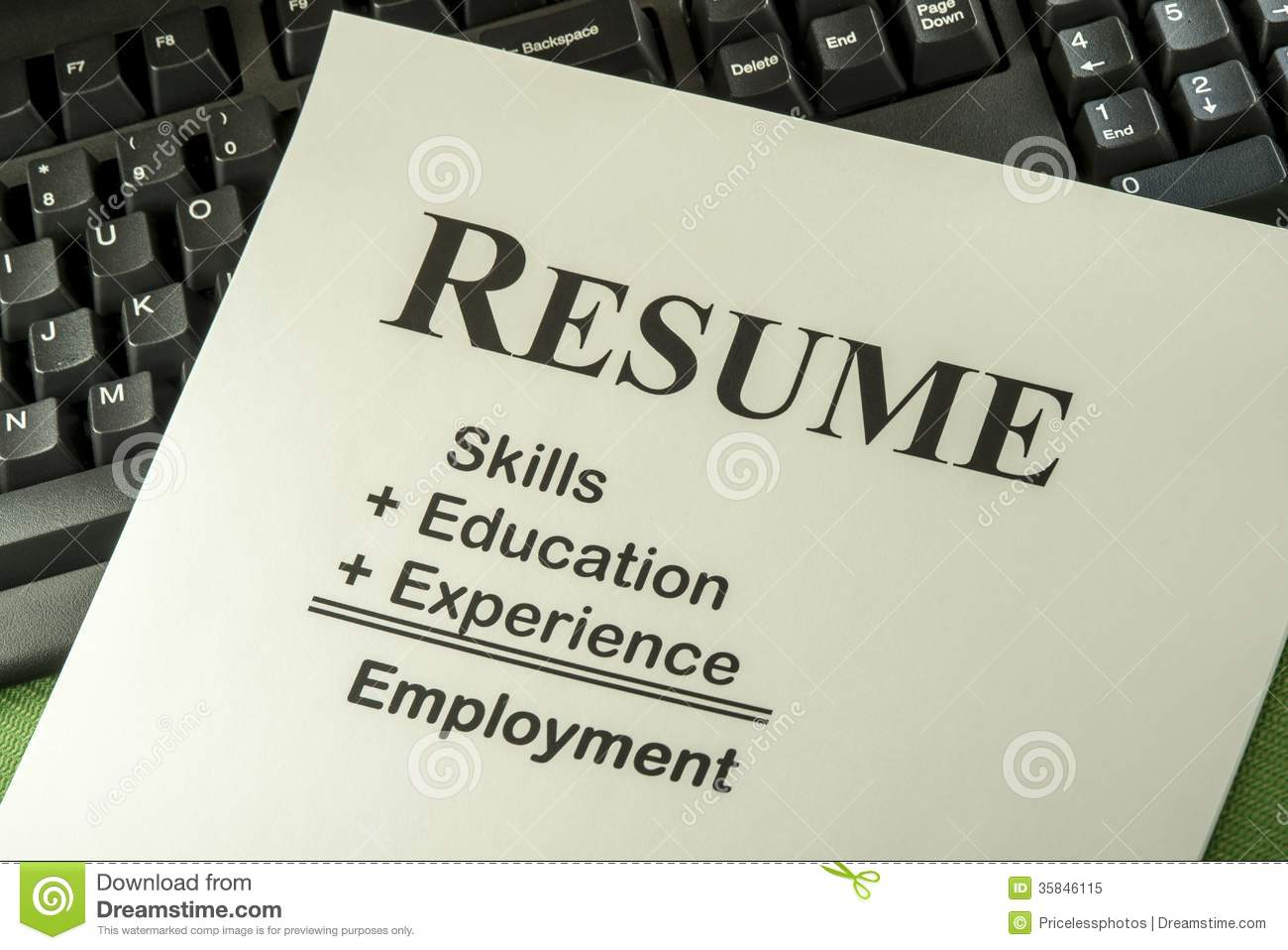 Resume Position Desired Picture Taken From Google