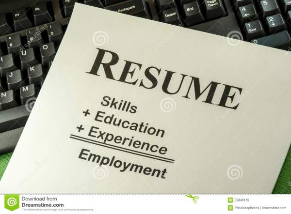 Successful Employment Concept With Desired Resume Formula