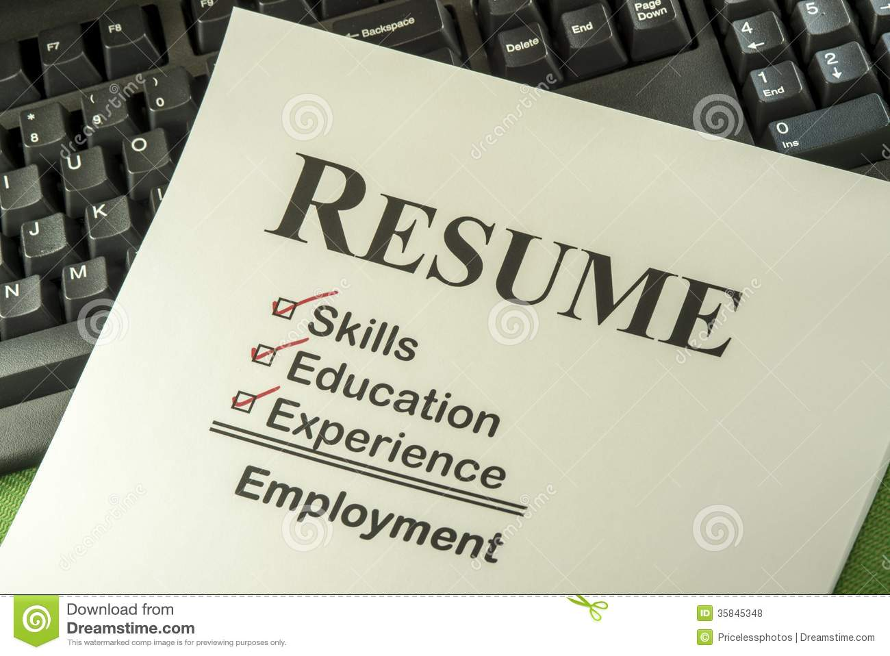 Do Employers Check Resume Successful Employment Concept With Resume Checklist