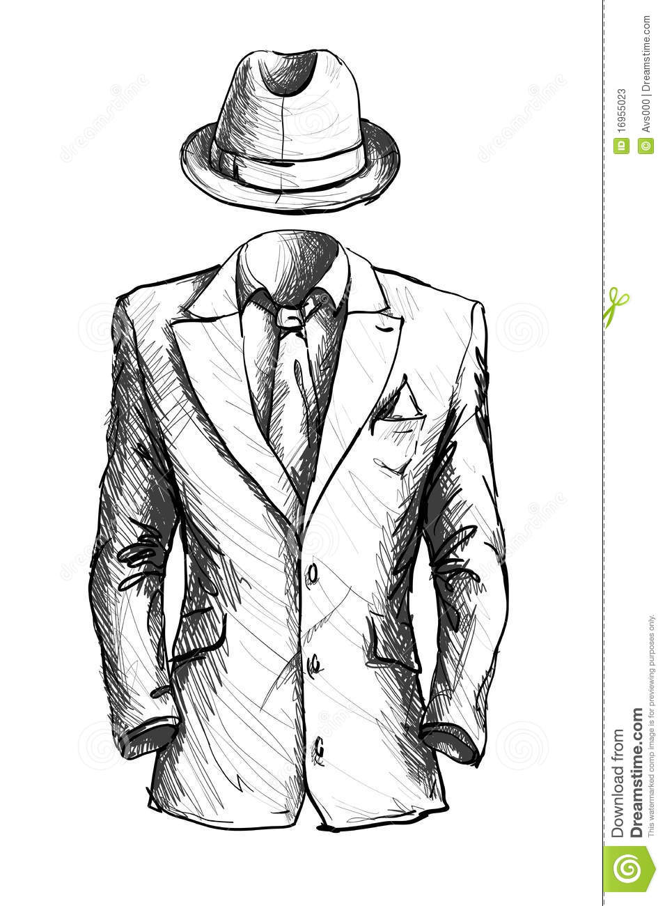 Suit stock vector. Illustration of concepts, business