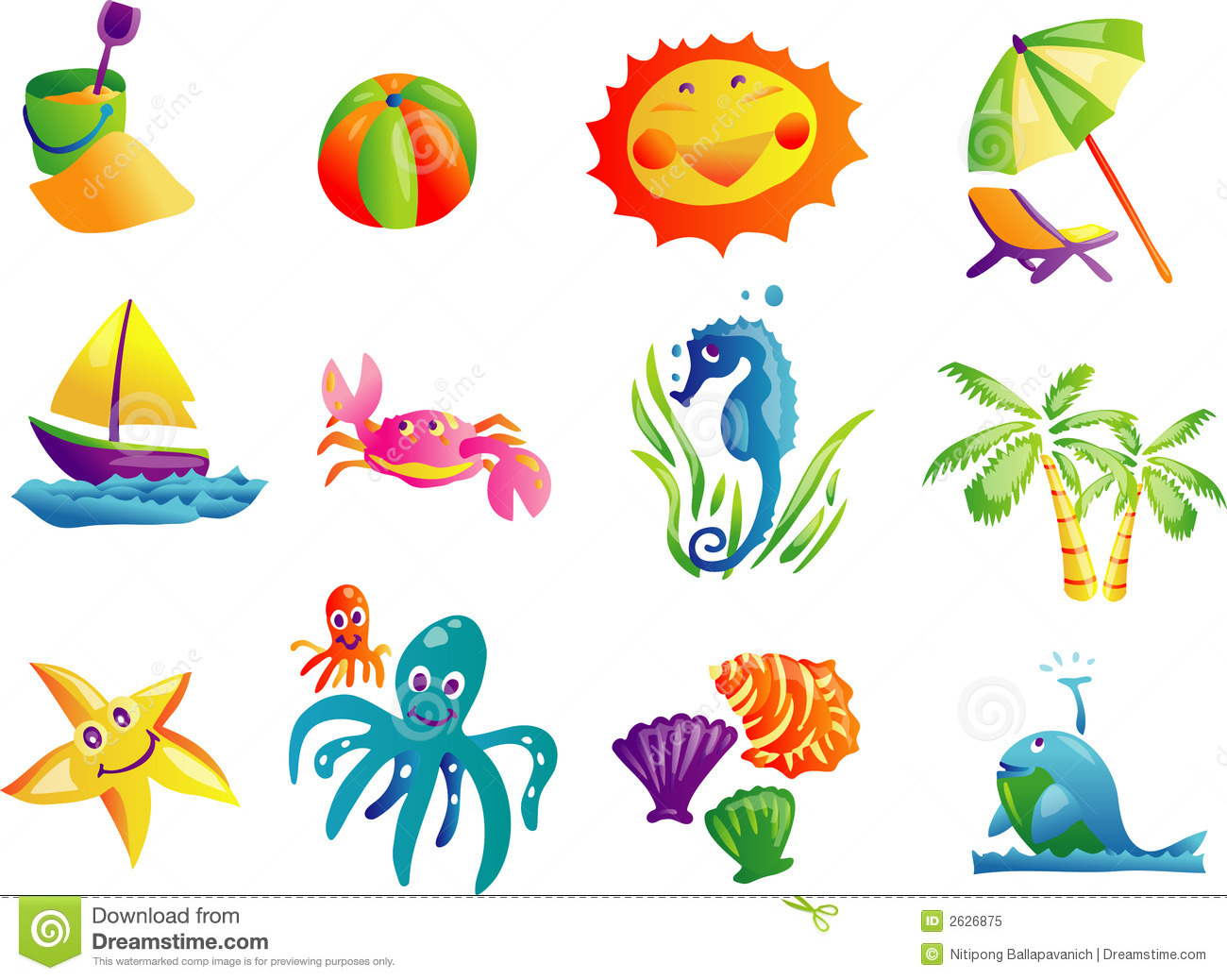 hight resolution of summer beach travel clip art