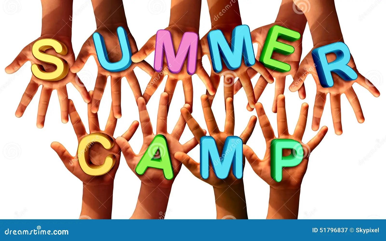 Summer Camp Kids Stock Illustration Illustration Of