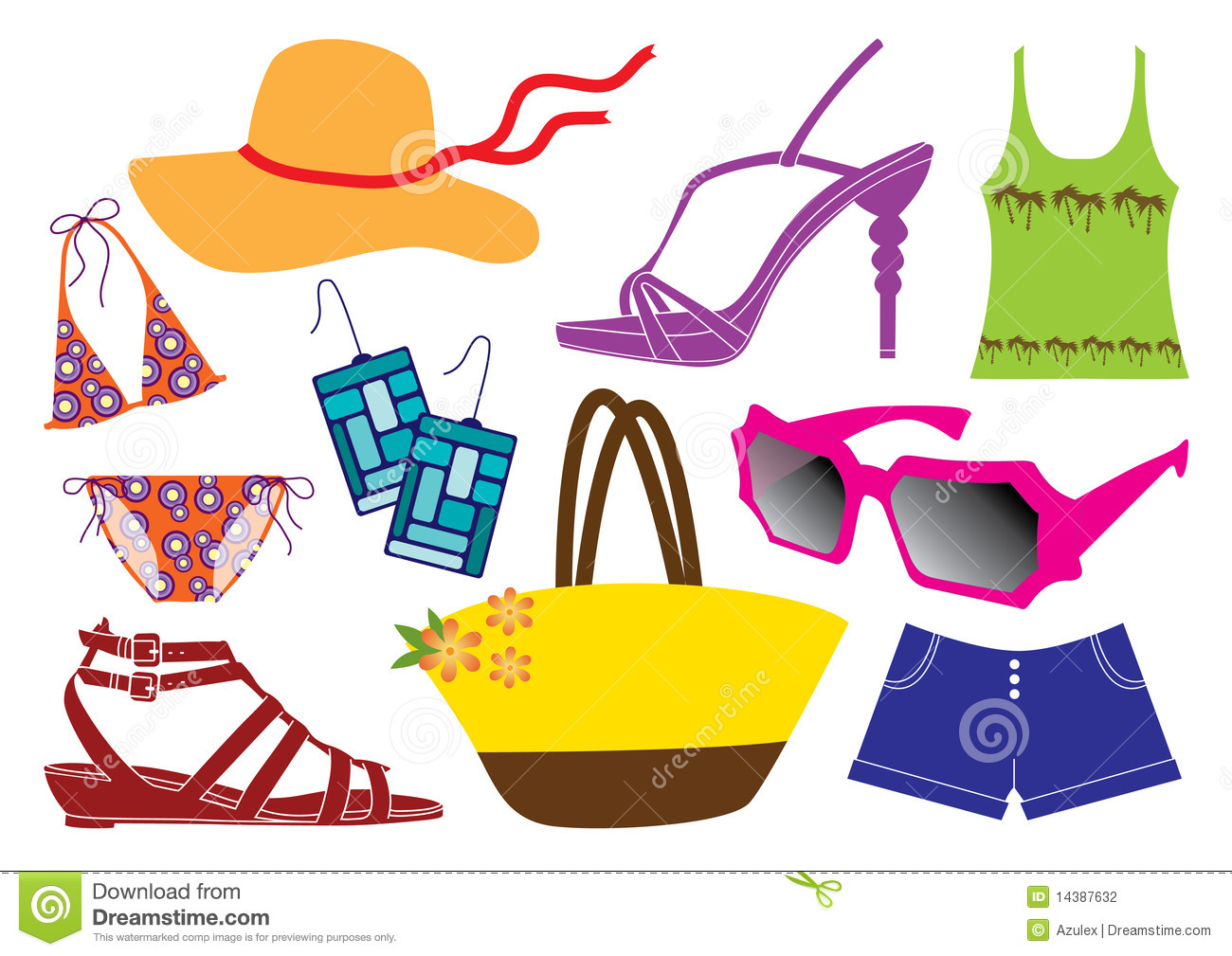 Summer Clothes Stock Vector Illustration Of Clothes