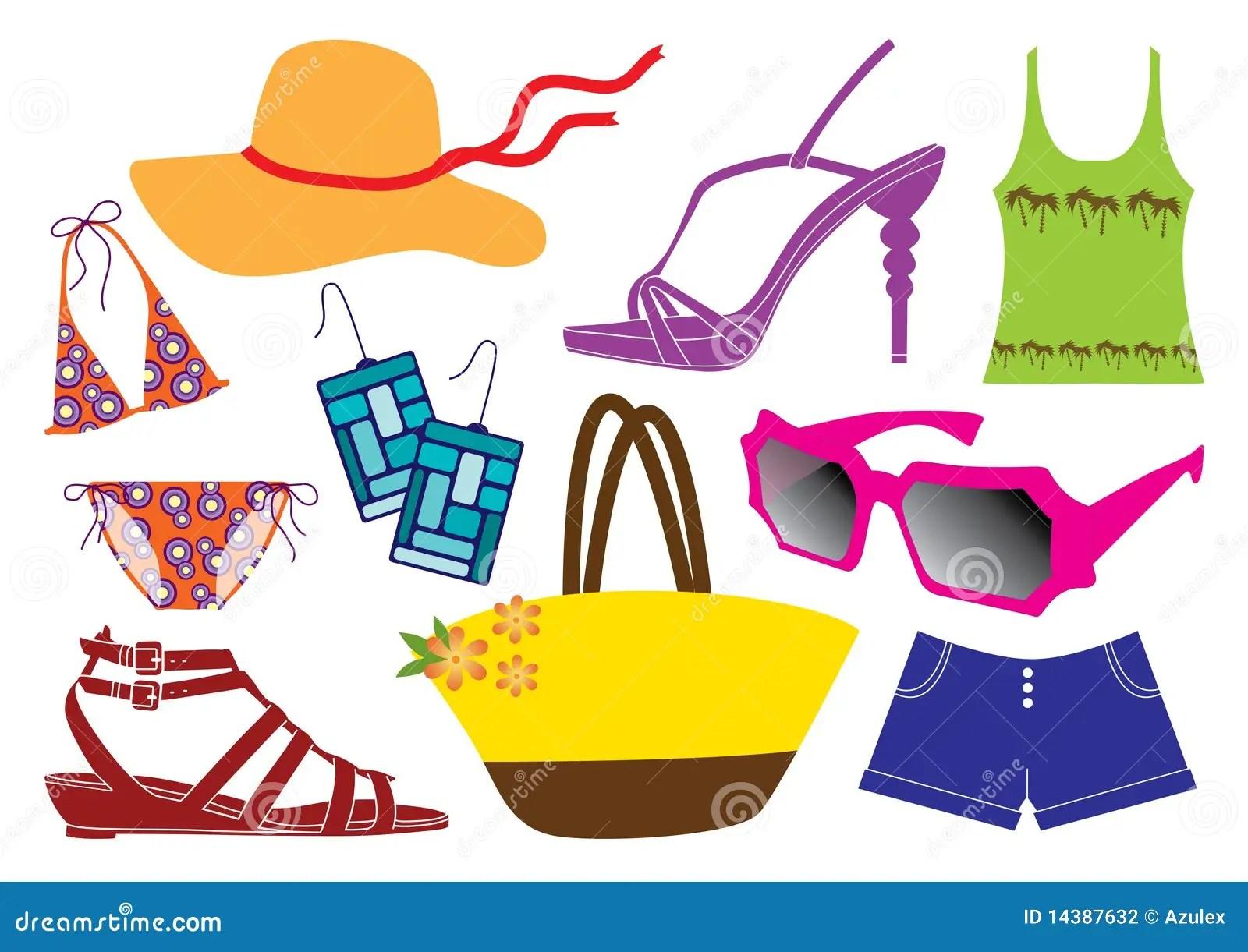 Summer Clothes Stock Vector Illustration Of Sport Summer